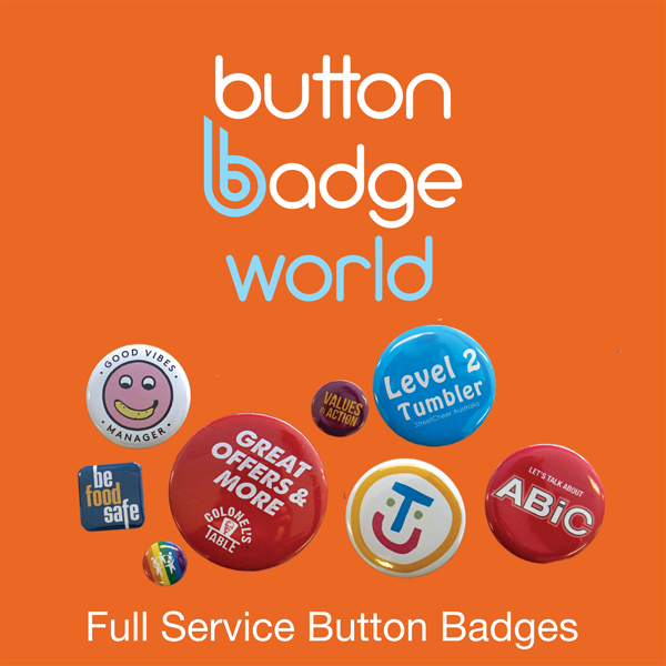 Full Service Button Badges